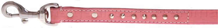 Leather leash - pink