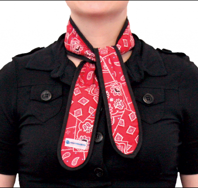 Cooling Necktie Red Western