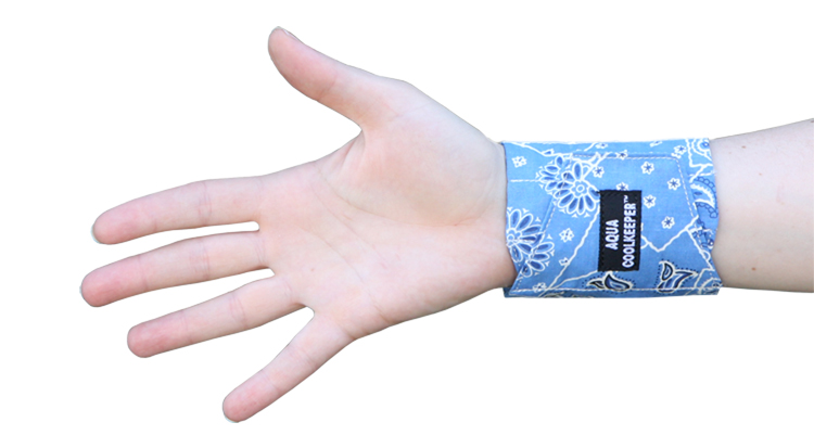 Cooling Wristband Blue Western