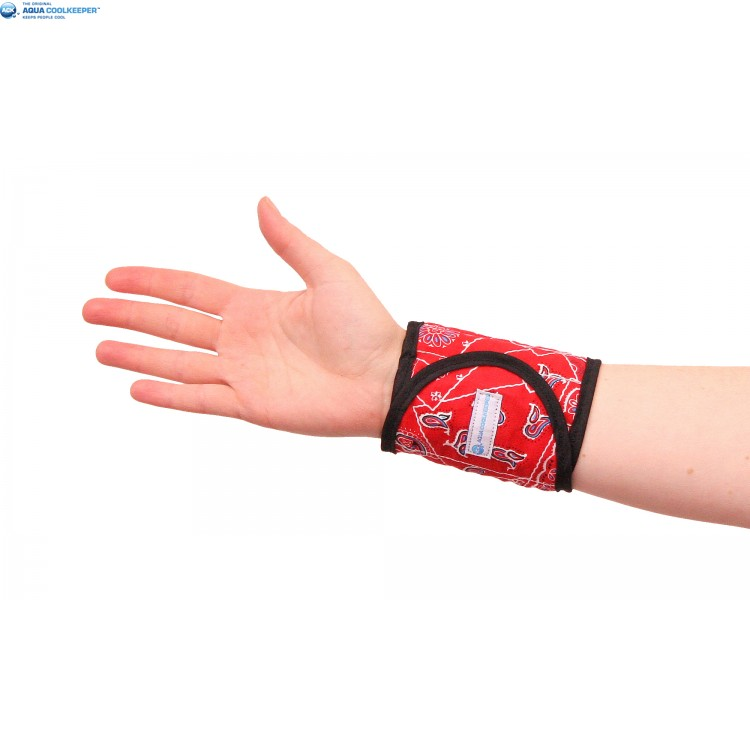 Cooling Wristband Red Western