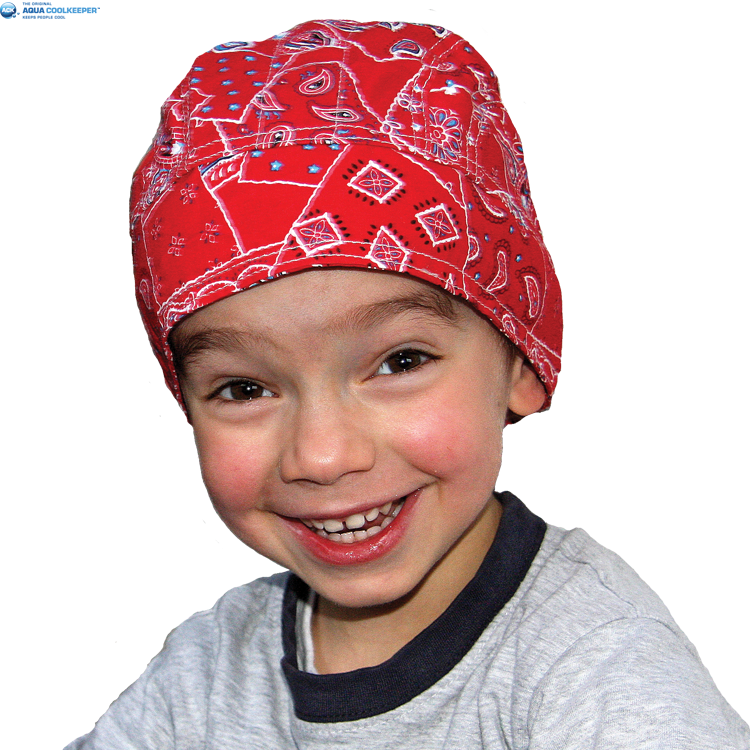 Cooling Kids Bandana Red Western